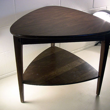 SOLD!  Vintage Triangle Wedge Table Laminate Top Mersman #31-5