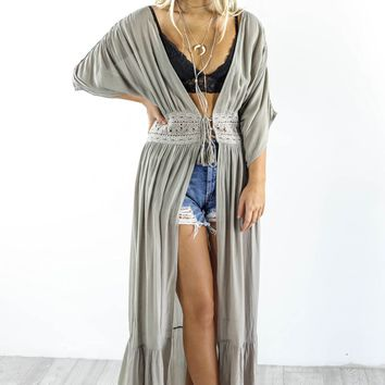 Feel The Thunder Ash Maxi Top