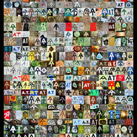 Appalachian Trail Poster - AT Symbol Collage Poster