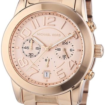 Michael Kors MK5727 Women's Mercer Rose Gold-Tone Stainless Steel Bracelet Chronograph Watch