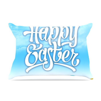 "KESS Original ""Happy Easter II"" Springtime Pillow Sham"