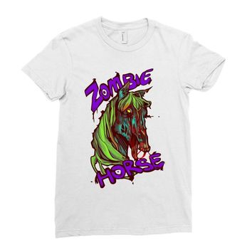 zombie horse classic Ladies Fitted T-Shirt