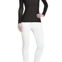 Black BCBG Agda Crewneck Long-Sleeve Tee
