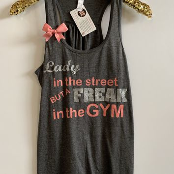 IG - FLASH SALE - Lady In The Street - Ruffles with Love - Racerback Tank - Womens Fitness