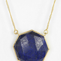 Urban Outfitters - Geo Lapis Gold Necklace