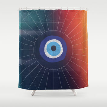 Evil Eye Shower Curtain by DuckyB (Brandi)