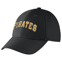 Nike Pittsburgh Pirates Dri-FIT Swoosh Flex Baseball Cap - Adult, Size: One Size (Black)