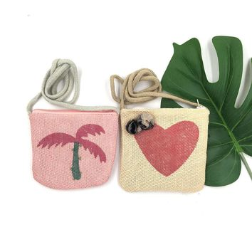 Raged Sheep Girls Coin Purse Kids One Shoulder Summer Coconut Tree Bags Cute Baby Message Bags Children's Day Gifts