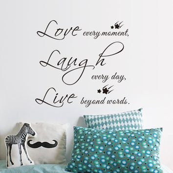 Live Love Laugh Letters Vinyl Wall Quotes Stickers