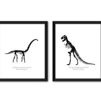 Dinosaur Wall Art - Kids Dinosaur Art - Baby Boy Nursery Art - Kids Wall Art - Playroom Wall Decor - Natural History - Boys Room Decor
