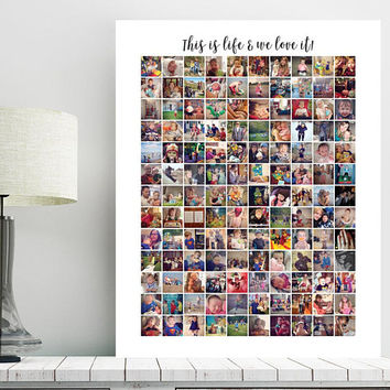 Instagram Collage, Instagram photo collage, Anniversary gift, Housewarming Gift, family gift, gifts for her, Hi res JPEG Printable