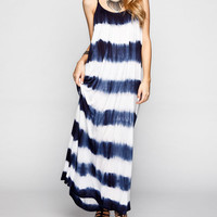 Raviya Tie Dye Stripe Coverup Dress Navy/White  In Sizes