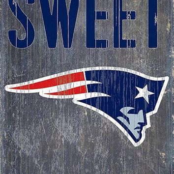 New England Patriots Home Sweet Home Premium Wood Sign