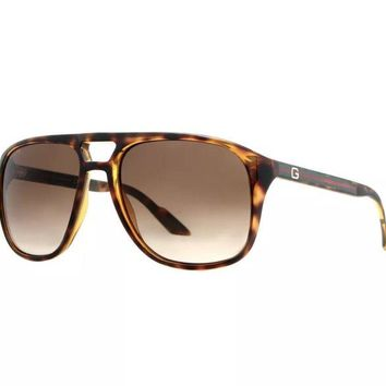 DCCKON2 GUCCI HAVANA AVIATOR SUNGLASSES
