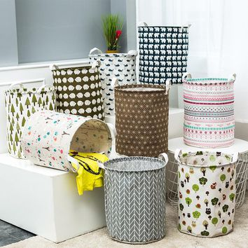 Large Laundry Hamper Bag  lovely animals Clothes Storage Baskets Home clothes barrel Bags kids toy storage laundry basket