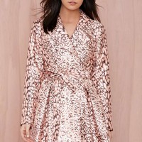 Nasty Gal On the Prowl Leopard Trench Coat