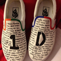 One Direction Slip Ons - Painted