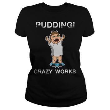 Dean Winchester: Pudding Crazy Works shirt Premium Fitted Ladies Tee