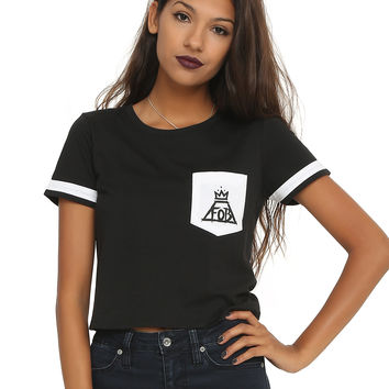 Fall Out Boy Pocket Crop Top