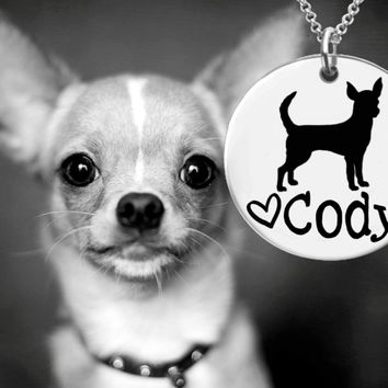 Chihuahua Dog Personalized Necklace