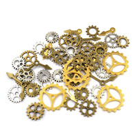 50 pieces Steampunk Style Mixed Assortment Gears Charm Pendant