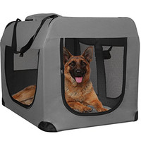 OxGord Dog Crate Soft Sided Pet Carrier - Foldable Portable Soft Pet Crate Training Kennel - Great for Indoor or Outdoor