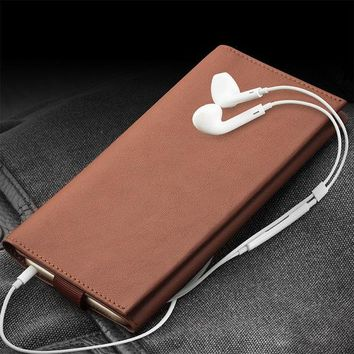 DCCKHY9 QIALINO Case For iPhone 6  6s plus Wallet Pouch for iPhone 7 genuine leather Note 5 5.5 inch Card Slot Luxury Phone Bags & Cases