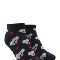 Koala Heart Ankle Socks