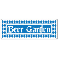 Oktoberfest Beer Garden Sign Banner Party Accessory 5' x 21""