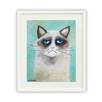 Ragdoll Cat Art Print, Kitty Cat Art, Feline Art Cat Print, Animal Pet Art, Pet Lover Gift, Signed Print