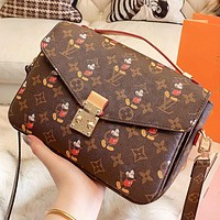 LV & Disney New fashion monogram print leather shoulder bag crossbody bag handbag women