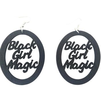 Black Girl Magic Earrings - Oval | Natural hair earrings | Afrocentric earrings | jewelry | accessories