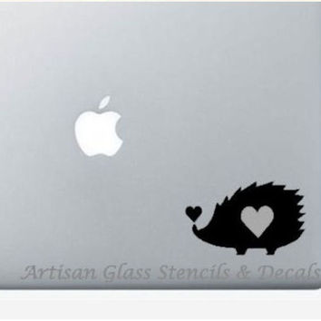 Hedgehog Car Decal, Laptop Decal, Vinyl Car Decal, Hedgehog Vinyl Decal