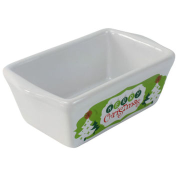 Celebrate It® Ceramic Mini Loaf Pan, Merry Christmas