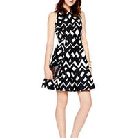 Kate Spade Chevron Alani Dress Black