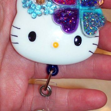Hello Kitty Such A Sparkly Heart Id Badge Reel Holder