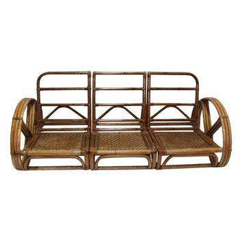 Pre-owned Mid-Century Pretzel Arm Sofa by Milo Baughman