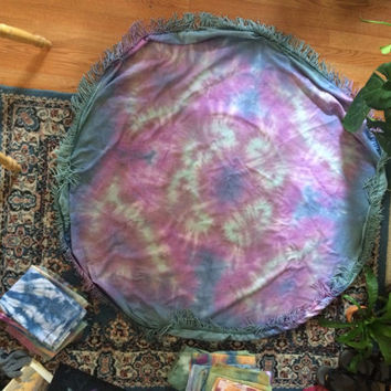 Tie dye mandala tablecloth