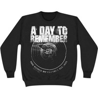 A Day To Remember Men's  Broken Record Sweatshirt Black Rockabilia
