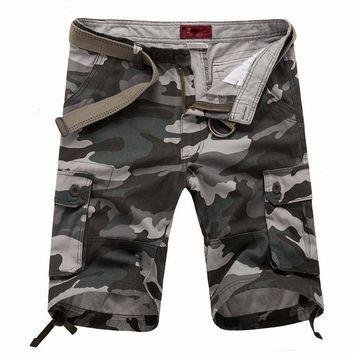 Summer Camouflage Camo Cargo Shorts Mens Casual Shorts Male Loose Work Shorts Man Military Short Pants Plus Size 29-42