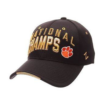 Licensed Clemson Tigers Official NCAA College Football Champion 2017 Small Hat Cap Zephyr KO_19_1