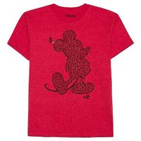 Boys' Disney® Mickey Glow Maze T-Shirt - Heather Red : Target