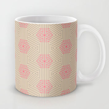 Abstract Triangle Sandy Pattern Mug by Cinema4design