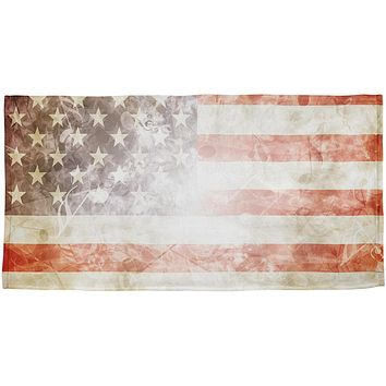 4th of July American Flag Star Spangled Banner All Over Beach Towel