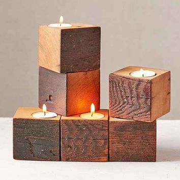 Farmhaus Firewood Single Candle Holder- Assorted One