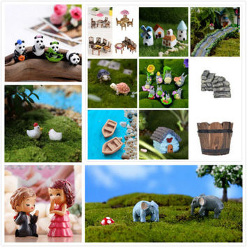Hot Sale Figurine Craft Plant Pot Garden Ornament Miniature Fairy Garden Decor