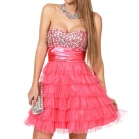 Tulip-Light Red Prom Dress