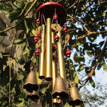 Outdoor Living Wind Chimes Yard Antique Amazing Garden Tubes Bells Copper Home Yard Windchime Wall Hanging Home Decoration
