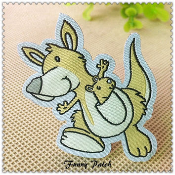Lovely Kangaroo Iron on Applique 402-H