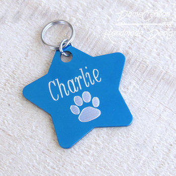 Personalized Dog Tags for Collars, Dog Star Shaped Dog Tag, Star Tags, Dog Id Tag, Personalized Dog Tag for Dog, Star Pet Tag